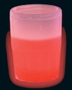 red glowing shot glass